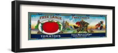 Free Lance Tomato Label - Chicago, IL by Lantern Press