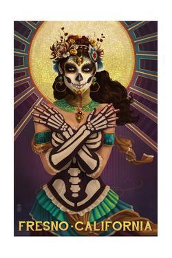 Fresno, California - Day of the Dead Crossbones by Lantern Press