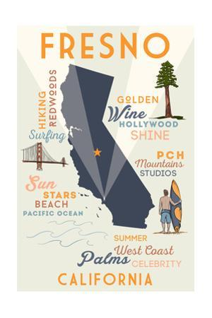 Fresno, California - Typography and Icons by Lantern Press