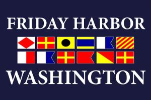 Friday Harbor, Washington - Nautical Flags by Lantern Press