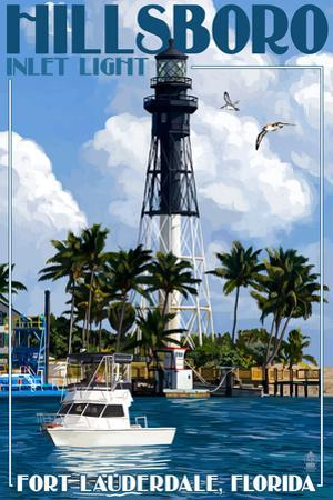 Ft. Lauderdale, Florida - Hillsboro Inlet Light by Lantern Press