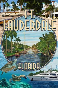 Ft. Lauderdale, Florida - Montage by Lantern Press