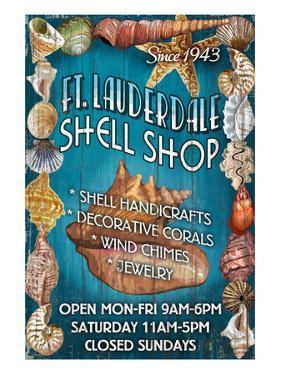 Ft. Lauderdale, Florida - Shell Shop by Lantern Press