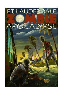 Ft. Lauderdale, Florida - Zombie Apocalypse by Lantern Press