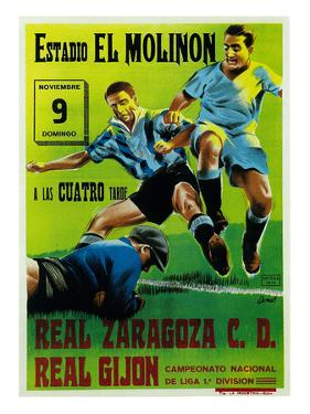 Futbol Promotion - Estadio El Molinon by Lantern Press