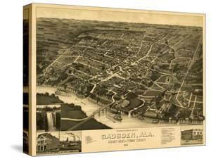 Gadsden, Alabama - Panoramic Map by Lantern Press