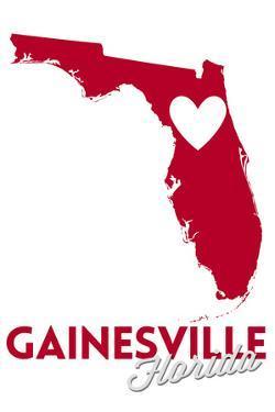 Gainesville, Florida - Heart Design by Lantern Press