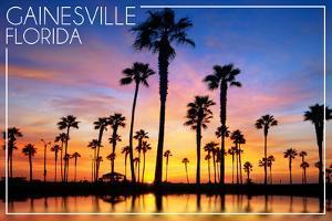 Gainesville, Florida - Lagoon and Sunset by Lantern Press