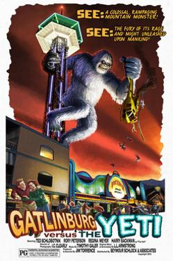 Gatlinburg, Tennessee - Gatlinburg Versus the Yeti by Lantern Press
