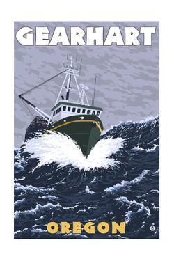 Gearhart, Oregon - Crab Fishing Boat Scene by Lantern Press