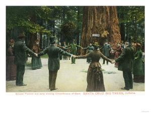 General Fremont Showing Circumference of a Redwood - Santa Cruz, CA by Lantern Press