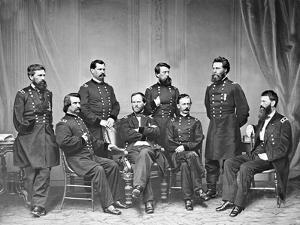 General Sherman and Staff, Civil War by Lantern Press