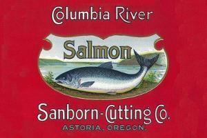 Genista Salmon Can Label (Salmon Only) by Lantern Press