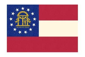 Georgia State Flag by Lantern Press