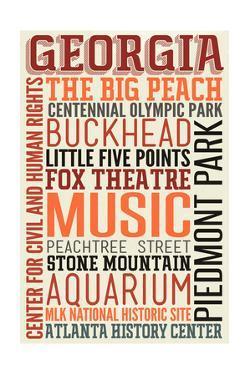 Georgia - Typography by Lantern Press