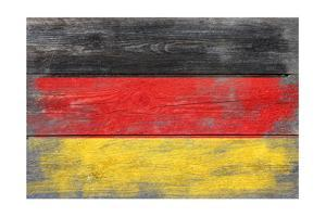 Germany Country Flag - Barnwood Painting by Lantern Press