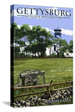 Gettysburg, Pennsylvania - Battlefield Tower by Lantern Press