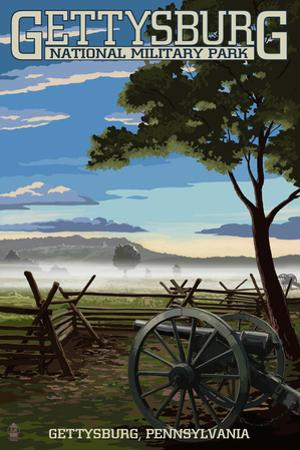 Gettysburg, Pennsylvania - Military Park by Lantern Press