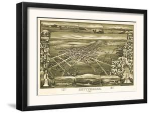 Gettysburg, Pennsylvania - Panoramic Map by Lantern Press