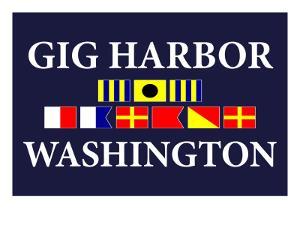 Gig Harbor, Washington - Nautical Flags by Lantern Press