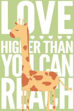 Giraffe - Infant Sentiment - Green by Lantern Press
