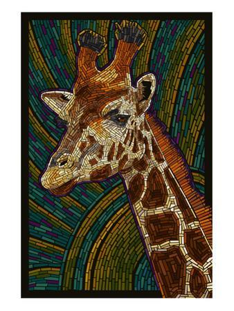 Giraffe - Paper Mosaic by Lantern Press