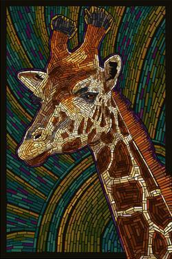 Giraffe - Paper Mosaic by Lantern Press