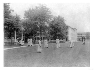 Girls Play Croquet at Carlisle Indian School Photograph - Carlisle, PA by Lantern Press