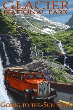 Glacier National Park - Going-To-The-Sun Road, c.2009 by Lantern Press