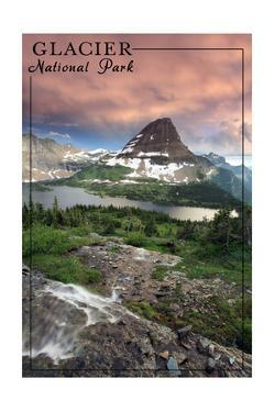 Glacier National Park, Montana - Hidden Lake and Bearhat Mountain Sunrise by Lantern Press