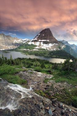 Glacier National Park, Montana - Hidden Lake and Bearhat Mountain Sunrise by Lantern Press
