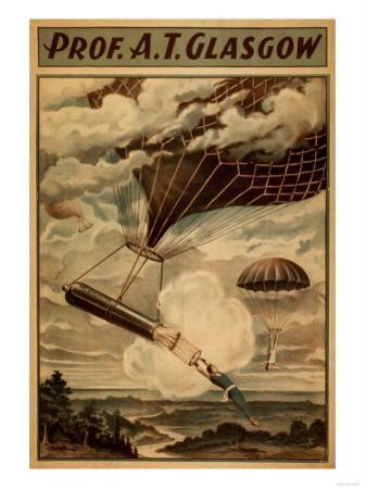 Glasgow Hot Air Balloon Circus Theatre Poster by Lantern Press