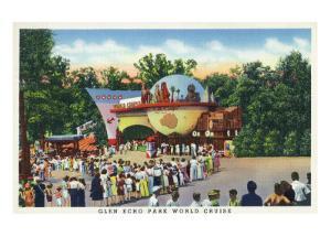Glen Echo, Maryland - Crowds in Line at Glen Echo Park Gates by Lantern Press