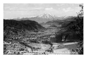 Glenwood Springs, Colorado - Traver Ranch View; Roaring Fork River Valley by Lantern Press