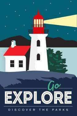 Go Explore (Lighthouse) - Discover the Parks by Lantern Press