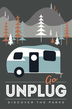 Go Unplug (Camper) - Discover the Parks by Lantern Press