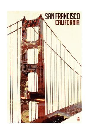 Golden Gate Bridge Double Exposure - San Francisco, CA