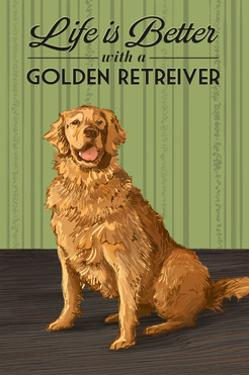 Golden Retreiver - Life is Better by Lantern Press