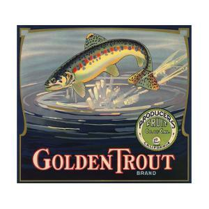 Golden Trout Brand - Lindsay, California - Citrus Crate Label by Lantern Press