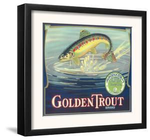 Golden Trout Orange Label - Lindsay, CA by Lantern Press