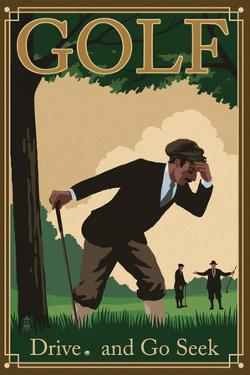 Golf - Drive and Go Seek by Lantern Press