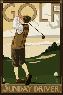 Golf - Sunday Driver by Lantern Press