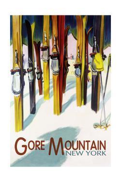 Gore Mountain, New York - Colorful Skis by Lantern Press