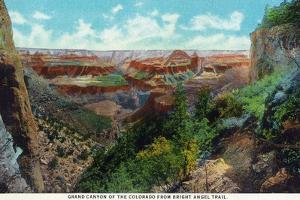 Grand Canyon Nat'l Park, Arizona - Bright Angel Trail View of Grand Canyon by Lantern Press