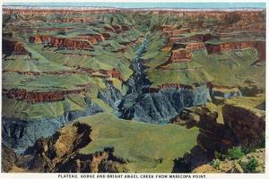 Grand Canyon Nat'l Park, Arizona - Maricopa Point View of Bright Angel Creek by Lantern Press
