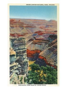 Grand Canyon Nat'l Park, Arizona - Northeastern View from Near El Tovar Hotel by Lantern Press