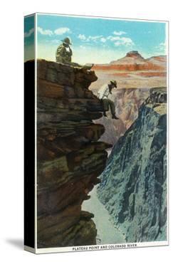 Grand Canyon Nat'l Park, Arizona - Plateau Point and Colorado River by Lantern Press