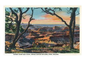 Grand Canyon Nat'l Park, Arizona - Sunset View from Hopi Point by Lantern Press