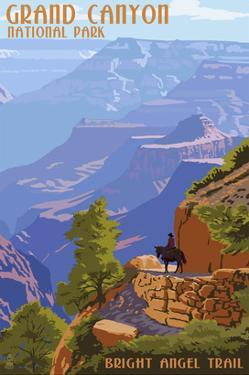Grand Canyon National Park - Bright Angel Trail by Lantern Press