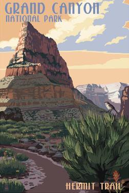 Grand Canyon National Park - Hermit Trail by Lantern Press